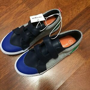 63c2ad5d5d8f Cat And Jack Boys Size 9 Gray Blue Colorblock Slip On Casual ...