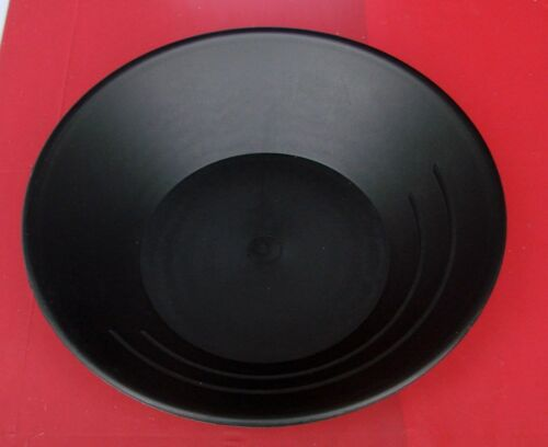 """Gold Pan Mining Panning plastique prospection des mineurs Neuf 10/"""" Noir"""
