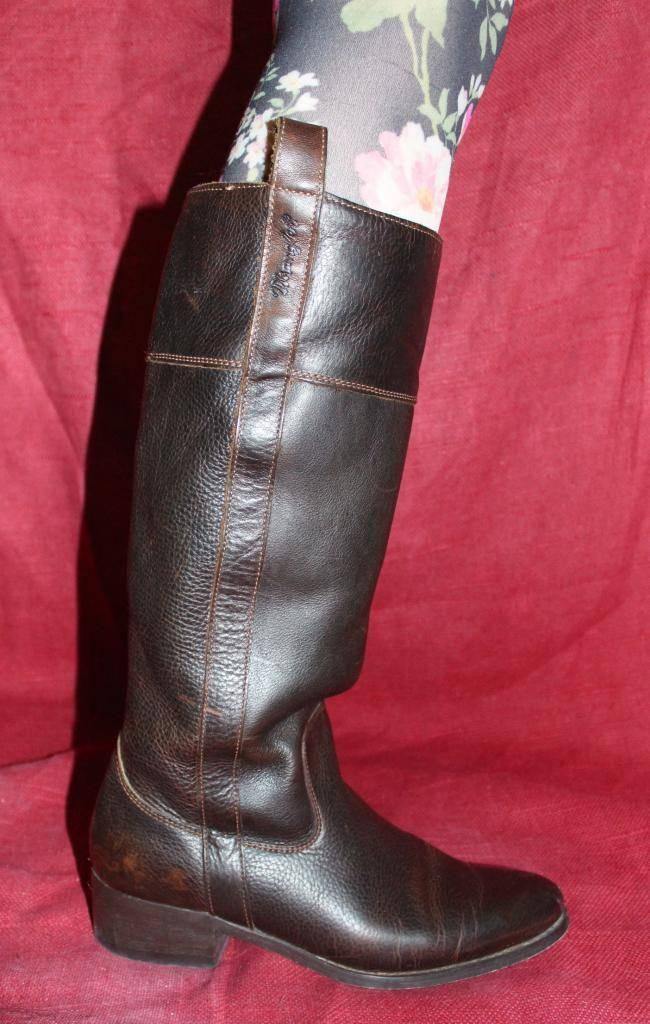 Wrangler Vintage Echtleder LEDER DAMEN BIKER Stiefel STIEFEL 38 Echtleder Vintage Leder Stiefel UK5 8c7b02