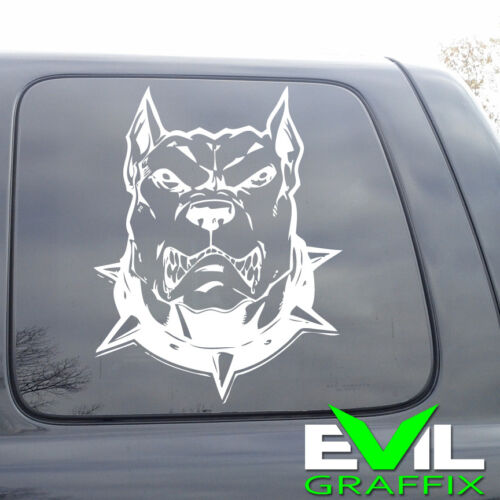pitbull dog vinyl sticker Pit bull Vinyl Window Sticker PIt PITBULL window art