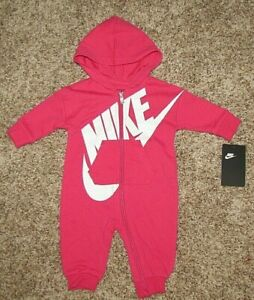 9 Months 5NB54-A5K Pink BABY GIRLS Nike 1-Piece Coverall