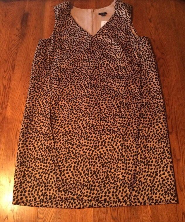 Ann Taylor Animal Print Dress Größe M Medium NWT
