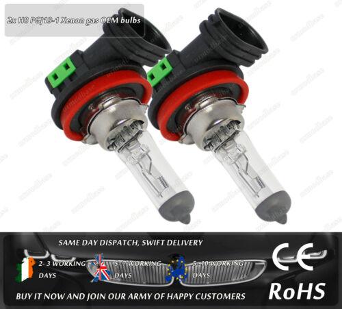 2x H8 PGJ19-1 35W 12V Standard OEM Clear Glass Halogen Fog Light Bulbs For Car
