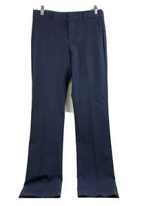 Banana Republic Logan Recto Pantalones De Vestir Para Mujer Talla 2 Azul Marino Stretch Nuevo Ebay