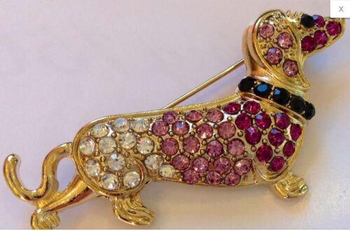 Dachshund Crystal Fashion Jewelry Swarovski Elements pin brooch Doxi #dachshund