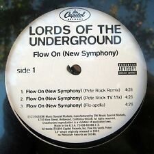 "LORDS OF THE UNDERGROUND FLOW ON (NEW SYMPHONY) 12"" NEW"