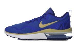 3a9190d8d70 Nike Nike Air Max Fury RUNNING SHOES Mens Royal Blue Gold White ...