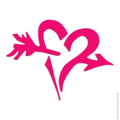 Heart Arrow Cupid Decal Sticker Choose Color Size #360