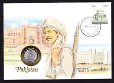 Numisbrief 1988 Pakistan Asian Stamp Cover with Pakistani Coin