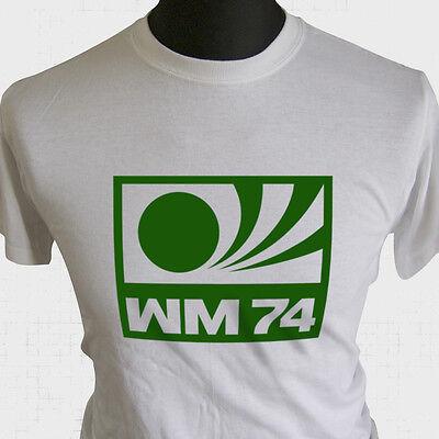 Germany 74 T-Shirt World Cup Football German FIFA Final Logo Mens Retro Kit Top
