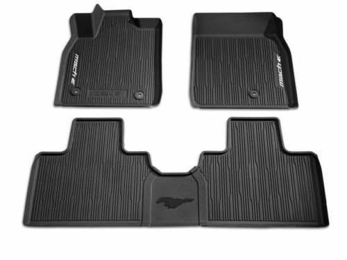 2021 MUSTANG MACH-E ALL-WEATHER TRAY STYLE RUBBER FLOOR MATS 3 PIECE KIT FORD A