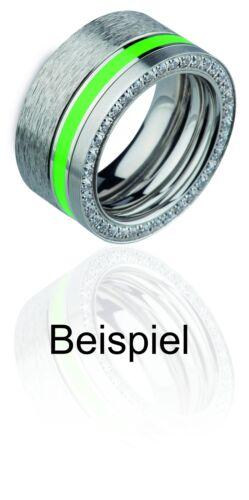 Ernstes Design Ring ED vita Vorsteckring schmaler Ring rundum mit Steinen R292 W