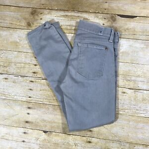 7-For-All-Mankind-THE-SKINNY-Light-Gray-Lowrise-Ankle-Jeans-Size-26x26-Stretch