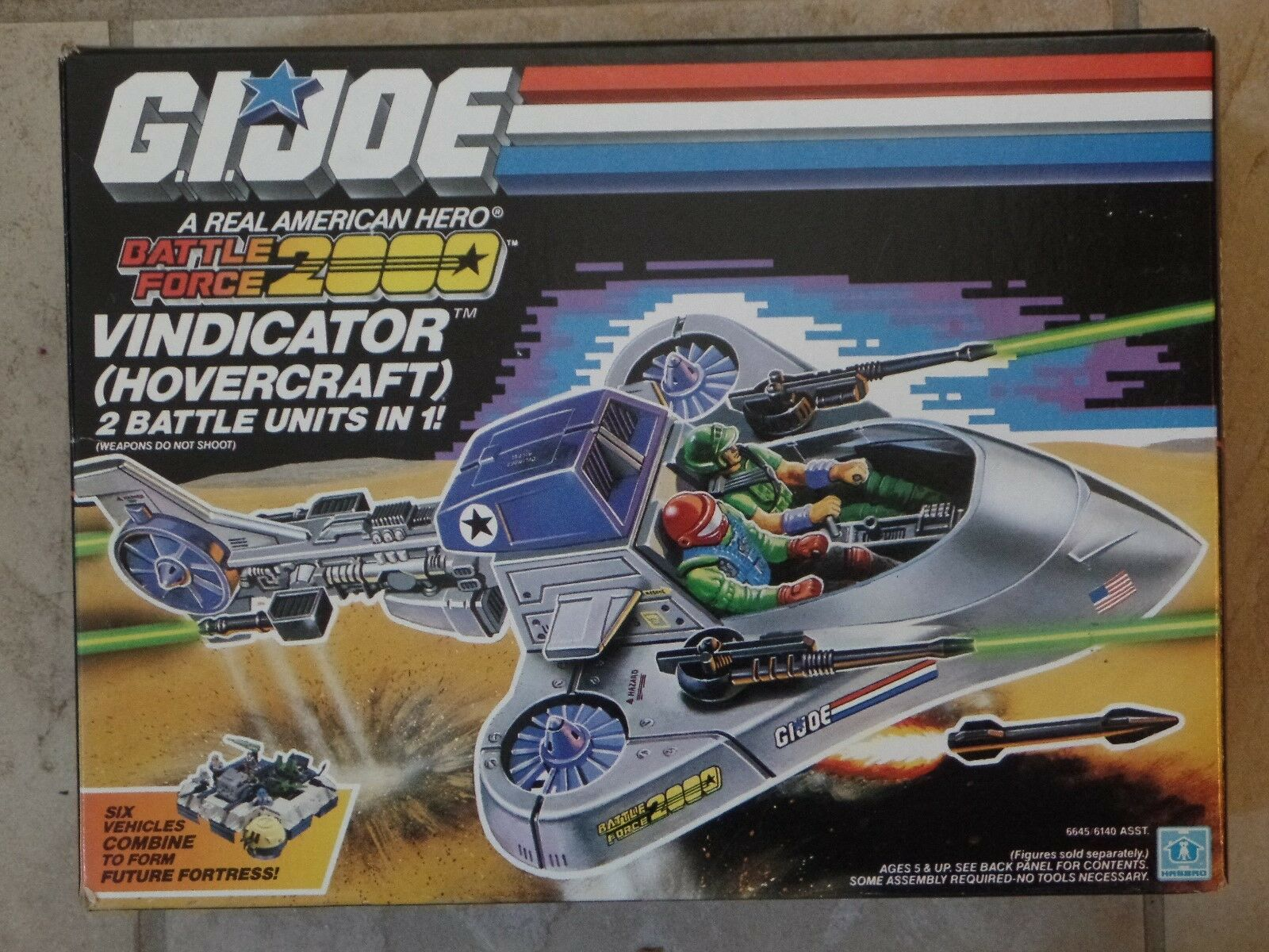 GI Joe Battle Force 2000 VINDICATOR HOVERCRAFT Hasbro 1987 New SEALED MISB RARE