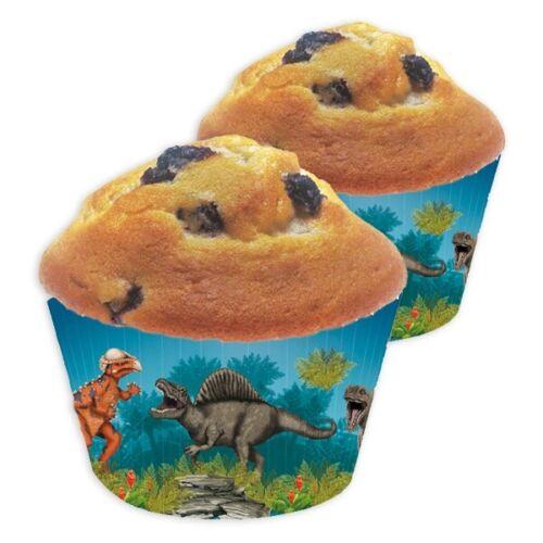 40 Dinosaurier Muffinförmchen für Dino Mottoparty oder Kindergeburtstag