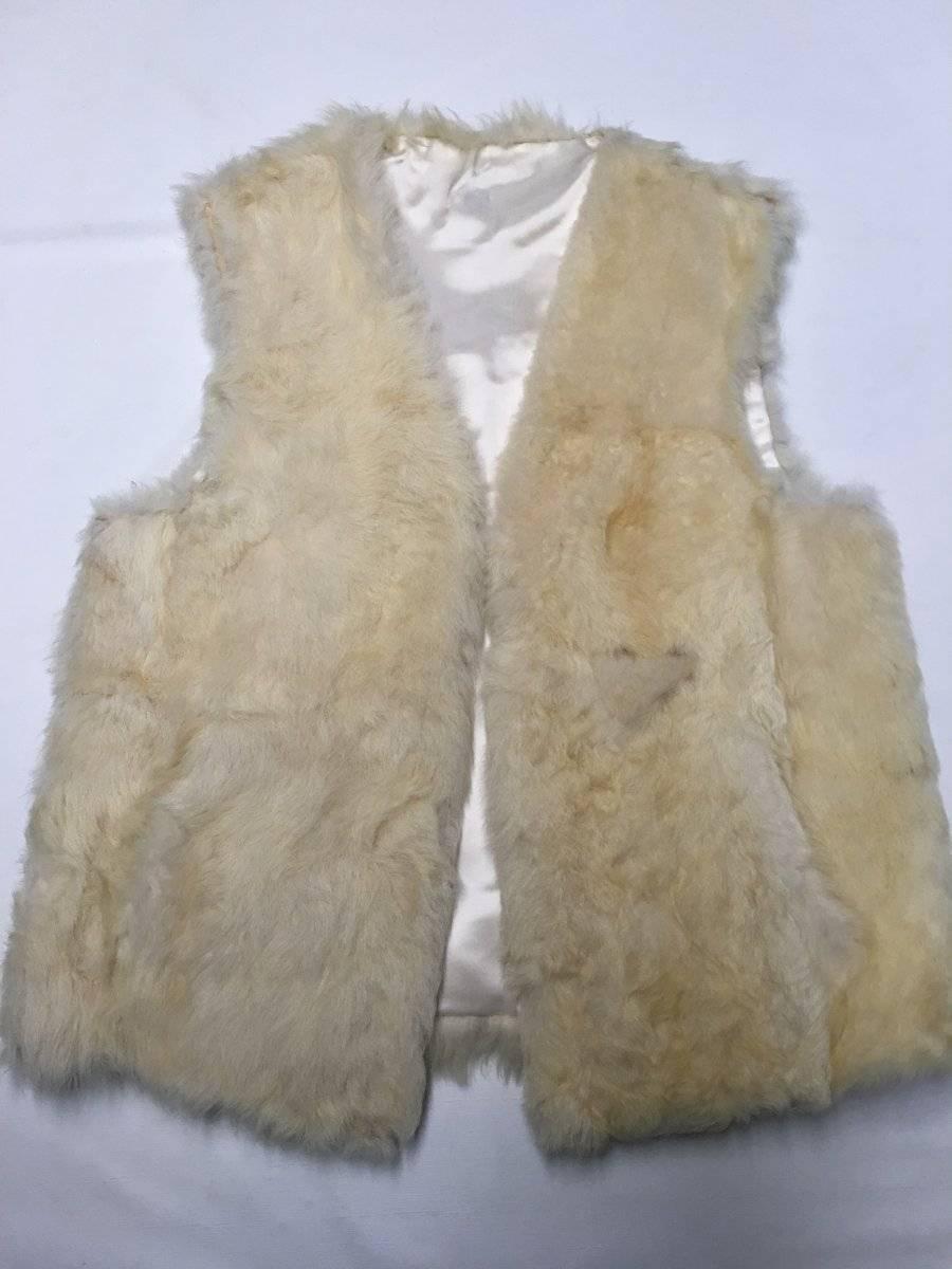 Womens FUR Beige Rabbit Rabbit Rabbit Fur Vest Sz M L 8c80e8