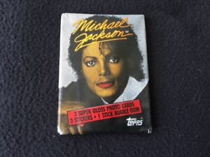 Topps MICHAEL JACKSON Vintage Sealed/Unopened Wax Pack Cartes non sportives 1984