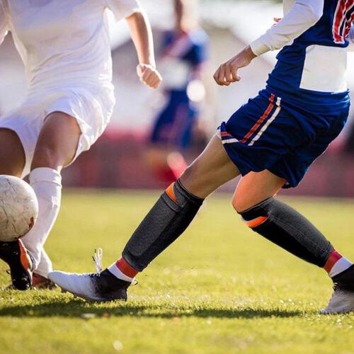 1 Pair Soccer Shin Pads Holder Instep Foot Socks Guard Lock Sleeve Breathable UK