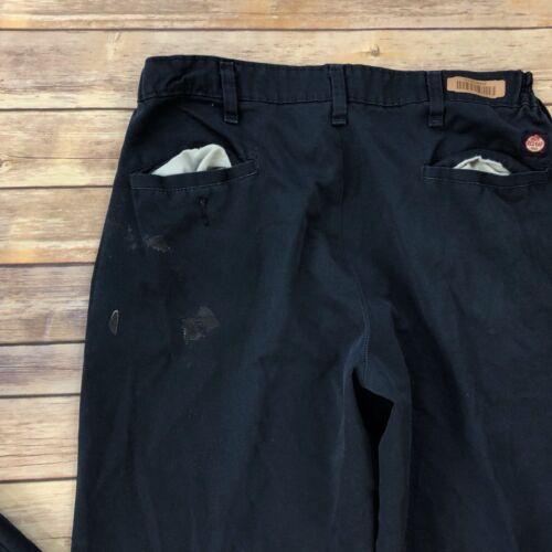 Red Kap Industrial Pants Work Uniform Elastic Insert Waistband Dark Color PT60