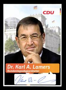 Gutherzig Karl A Lamers Autogrammkarte Original Signiert ## Bc 114400 Extrem Effizient In Der WäRmeerhaltung Original, Nicht Zertifiziert