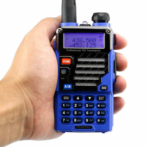 Baofeng UV-5R Plus Qualette Series Blue 2m//70cm Band V//UHF Ham Two-way Radio US