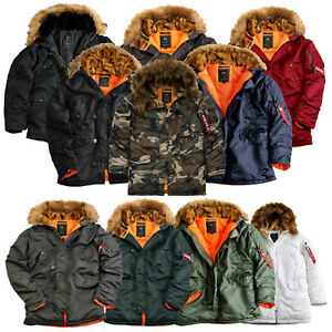 Alpha-Industries-senores-invierno-chaqueta-chaqueta-n3b-vf-59-Parka-abrigo-s-hasta-5xl-nuevo