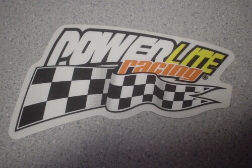 AUTHENTIC 1980s Old School Powerlite Racing Checkered Flag BMX sticker VINTAGE