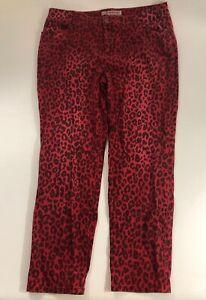busca lo mejor reunirse último estilo Chicos Platinum Jeans Pants Red Black Leopard Animal Print ...