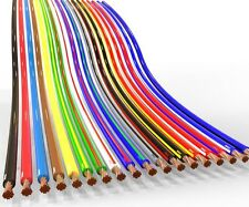 10 metros X 2.0mm2 Thinwall doble núcleo 2 Core dos Cable Rojo//Negro 25 AMP CABLE
