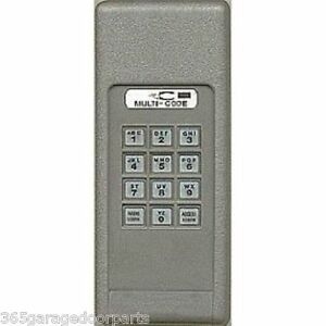 Multi Code 298601 Wireless Garage Door Gate Opener Keypad