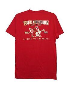 New True Religion Men S Shiny Metallic Gold Buddha Graphic T Shirt