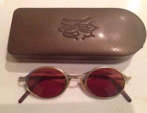 7fac7f87c Óculos De Sol Óculos Matsuda Vintage 46 0 22 Em Caso De Latão Antigo ...