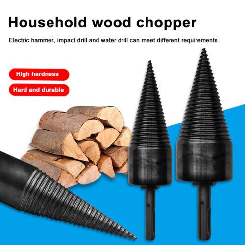 32mm Firewood Drill Bit Wood Cone Reamer Punch Driver Split Drilling Tool