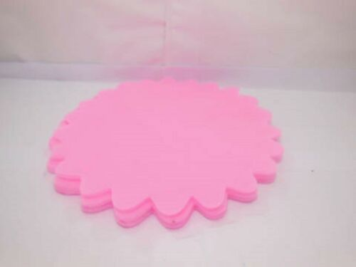 100 Pink Scalloped Edge Tulle Round Circles Wedding Favor
