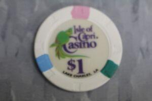 Details about PAULSON POKER CHIPS $1 ISLE OF CAPRI CASINO LAKE CHARLES , LA