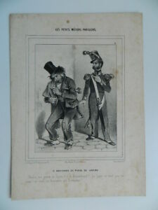 Incisione Piccoli Mestieri Parisiens Litografia Bauger Aubert Cicuta Merchant Di