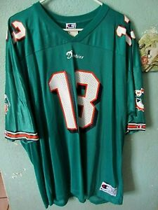 new product 5cd9d 99fc2 Details about MIAMI DOLPHINS DAN MARINO JERSEY SIZE ADULT 52 NWT
