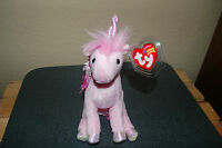 FAIRYTALE the Pink  Unicorn  HORSE  - Ty Beanie Baby  - Retired 2005  - MWMT
