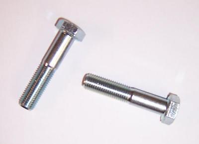 2St verzinkt M10x1,25x55 Sechskantschrauben mit Feingewinde DIN 960//8.8 galv
