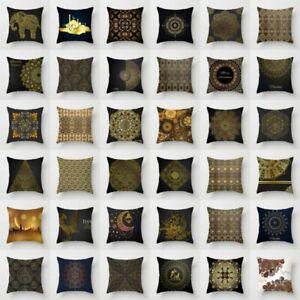 Gold-Totem-Pillow-Case-Polyester-Sofa-Car-Throw-Cushion-Cover-Home-Decor-18-039-039