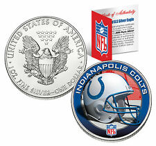 INDIANAPOLIS COLTS 1 Oz .999 Fine Silver American Eagle $1 US Coin NFL LICENSED