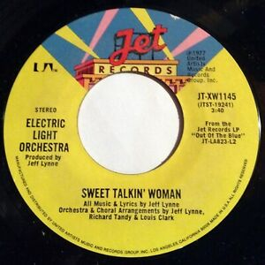 Electric Light Orchestra Elo 45 Sweet Talkin Woman Fire On High Ex Ebay