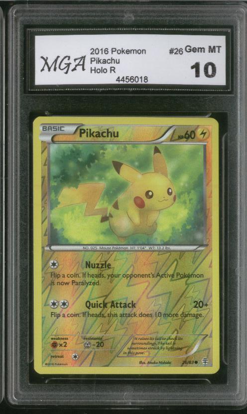 2016 pokémon pikachu karte            holo - 26    gem - 10    sehr selten.