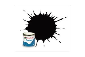 HUMBROL-Enamel-85-Noir-Charbon-Satine-Coal-Black-Satin-14ml