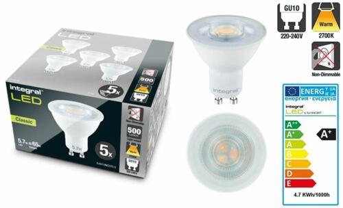 GU10 Classic PAR16 5.7 W 65 W 2700K 500 LM Non-Dimmable Lampe-Pack de 5