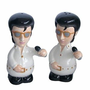 Acheter Pas Cher New & Coffret Cadeau Nouveauté Elvis Le King Salt N Pepper Pots Shakers-afficher Le Titre D'origine