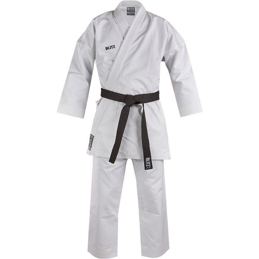 Blitz Kids or Adults Heavy Weight Deluxe White Diamond Karate Gi Suit Uniform