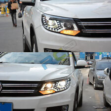 HID Headlights For VW Tiguan 2012-2016 Front Bumper LED Bi-xenon Head Lamps