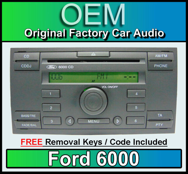 ford focus c max radio cd 6000cd 96705 ebay. Black Bedroom Furniture Sets. Home Design Ideas
