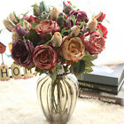 Silk Wedding Flowers Bride Decor French Style Royal Roses Flowers Bouquet Home